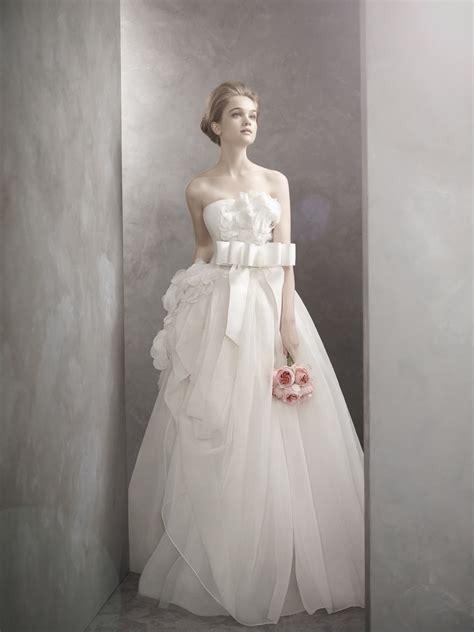 romantic white  vera wang wedding dress onewedcom