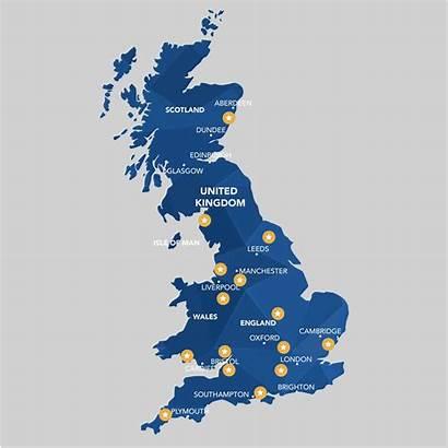 Map Graphic Cambridge Oxford Milton London Birmingham