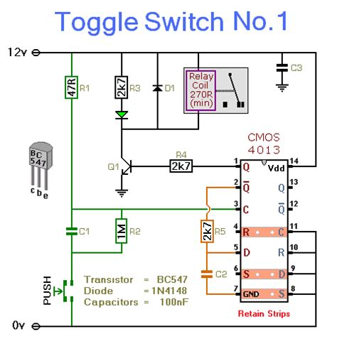 Electronic Toggle Switch Circuit Diagram Instructions