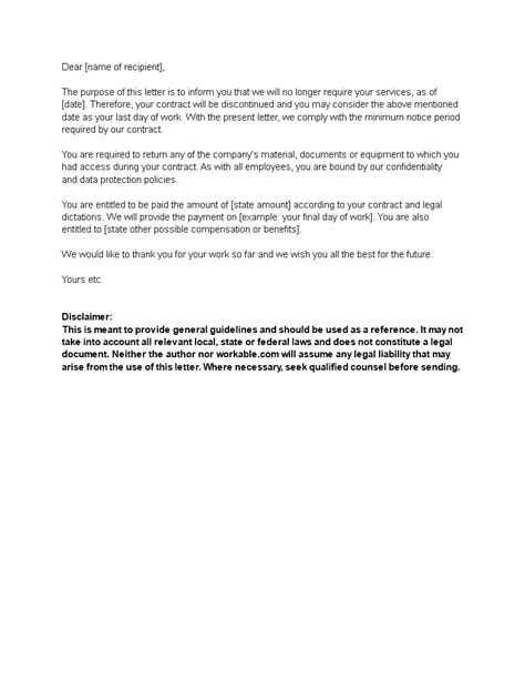 Employee Contract Termination Letter | Templates at allbusinesstemplates.com