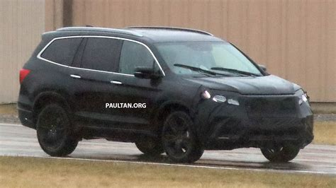 Spied 2019 Honda Pilot Facelift Spotted  Eightseat Suv