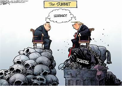 Trump Kim Jong Un Political Cartoons Meeting