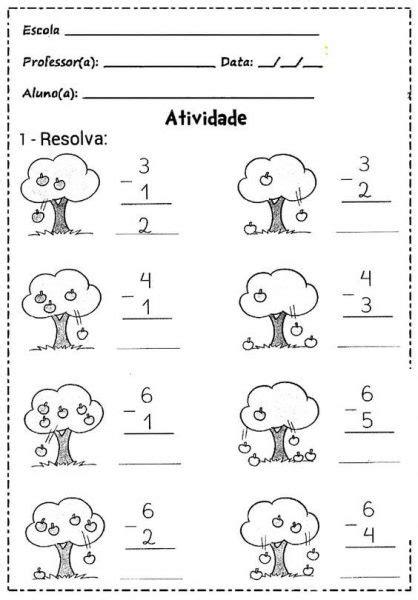 subtraction   worksheet school