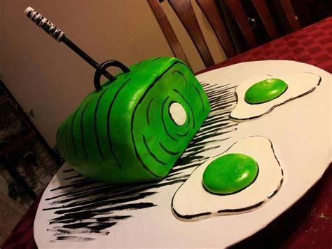 green eggs  ham cake cakecentralcom