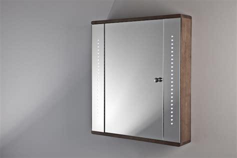 Ambient Solid Oak Bathroom Cabinet With Demister, Sensor