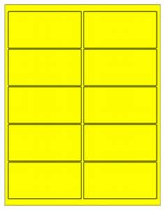 removable laser labels fluorescent yellow 4 x 2quot s With uline templates