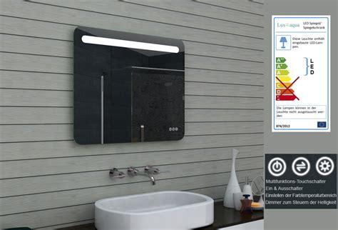 badezimmerspiegel mit led www aqua de badezimmerspiegel badspiegel led multifunktions touchschalter 80x65cm mlf80x65