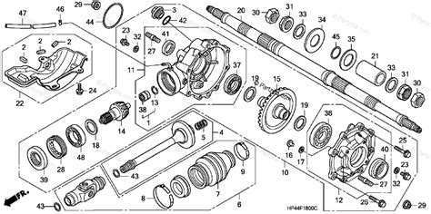 Honda Atv Oem Parts Diagram For Rear Final Gear