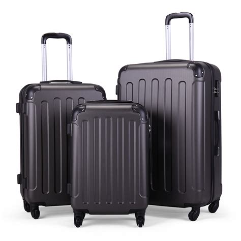 JAXPETY - Jaxpety 3 Piece Luggage Set Hard Shell Travel ...
