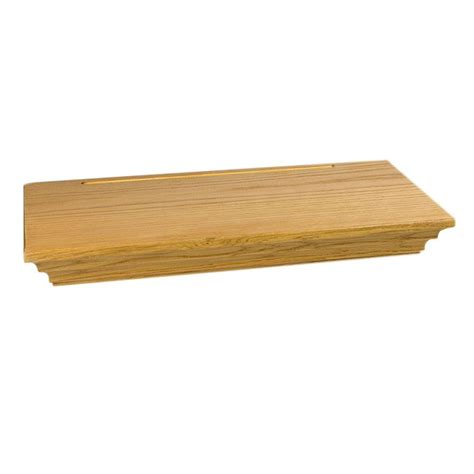 home depot canada decorative shelves wallscapes woodridge 8 in x 1 3 4 in floating shelf kit