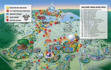 2019 Disney World Marathon Course Map