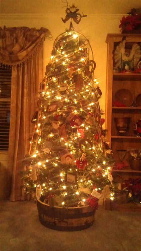 my moms cowboy christmas tree christmas this year