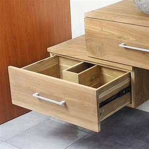 meuble suspendu sous vasque en teck 70 cm 18 760 With meuble sous vasque suspendu
