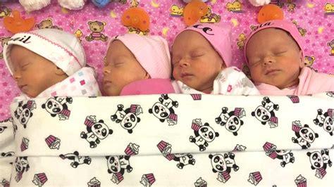 identical quadruplets surprise delight canadian newlyweds