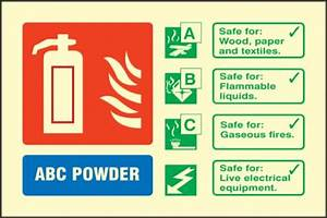 ABC Powder Fire Extinguisher Sign (Photoluminescent ...