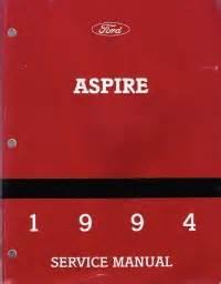 car repair manuals download 1994 ford aspire regenerative braking 1994 ford aspire service manual