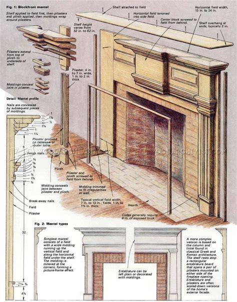 fireplace mantels plans woodarchivist