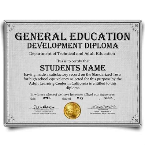fake ged transcripts   word  format
