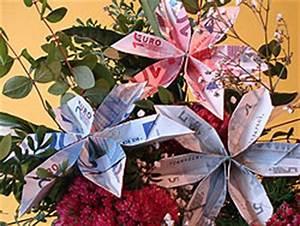 Geldscheine Falten Baum : eine schicke geld blume falten basteln gestalten ~ Lizthompson.info Haus und Dekorationen