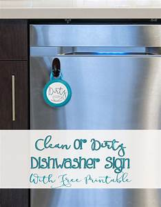 Easy Clean or Dirty Dishwasher sign with Free Printable