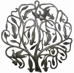 Décoration Murale Fer Forgé : fer forg d coration murale arbre de vie avec des oiseaux eur vente ~ Teatrodelosmanantiales.com Idées de Décoration