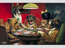 «Собаки, играющие в покер» картина художник Кассиус Кулидж