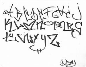 Graffiti writing letters