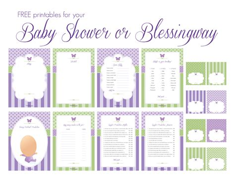 Free Baby Shower Printable - the complete blessingway up with lots of free