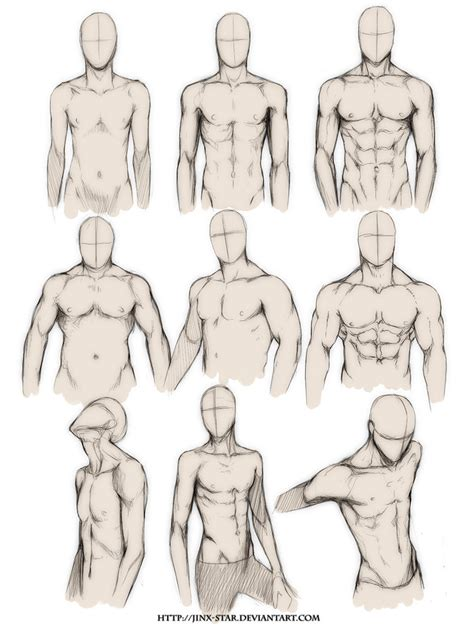 drawing tutorial anatomy and proportion 1 male models