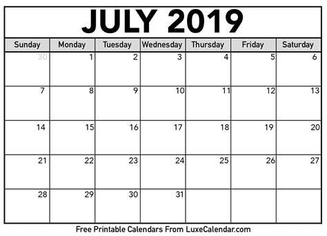 blank july calendar printable luxe calendar