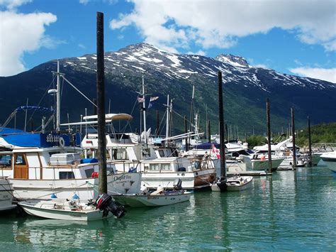 Boat Harbor by Skagway Small Boat Harbor Skagway Alaska