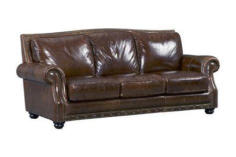 Havertys Sleeper Sofas by Cagney Leather Sofa Southern Motion Cagney 2