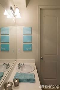 Ide Dcoration Salle De Bain DIY Bathroom Canvas Art