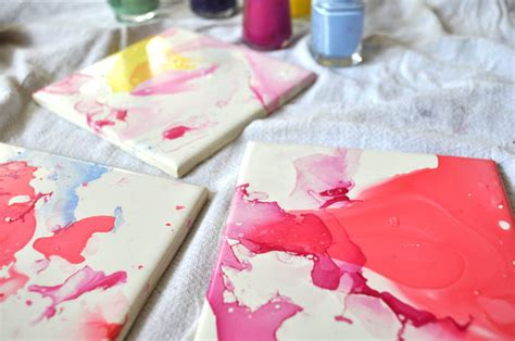 Watercolor Effect Tile Coasters