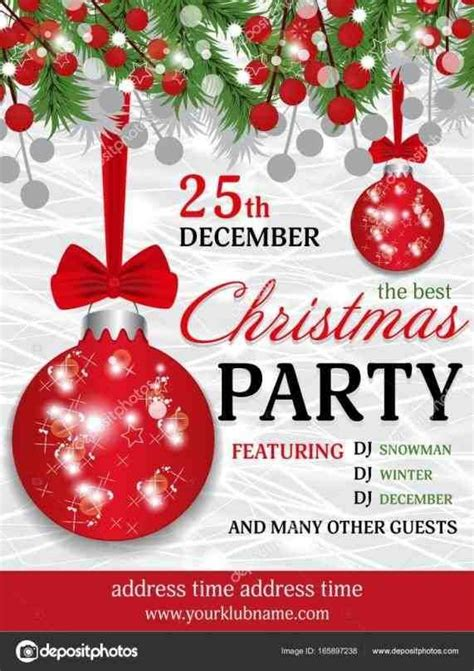 christmas invitation background christmas party