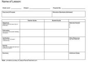 Preschool Blank Lesson Plan Template