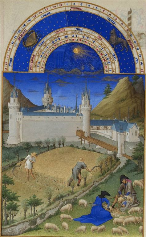 limbourg brothers beautiful illustrations  tres