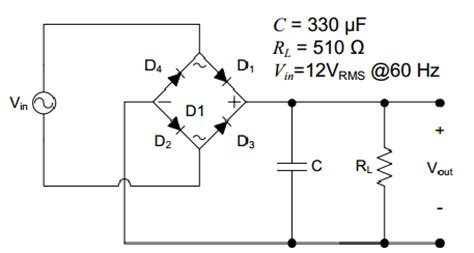 Solved Part For The Full Wave Bridge Rectifier