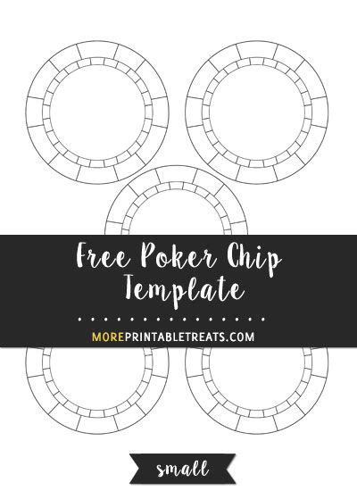 poker chip template small size shapes