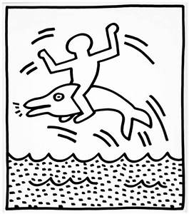 gift coloring pages With keith haring figure templates