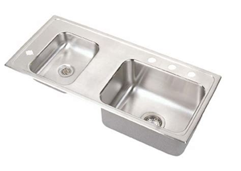 stainless steel drop in utility sink elkay classroom double bowl drop in self rimming stainless