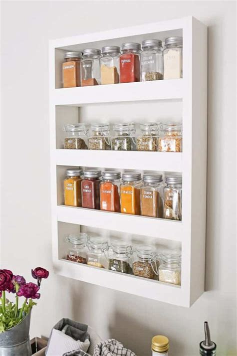 White Spice Rack by 20 Creative Spice Rack Ideas For Small Kitchen