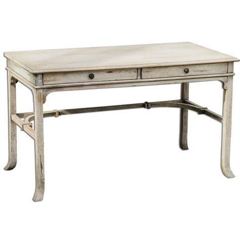 white wall hangings uttermost bridgely aged white 30 inch writing desk 25602