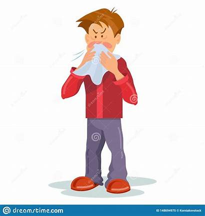Sick Ill Thermometer Cold Clipart Zieke Persoon