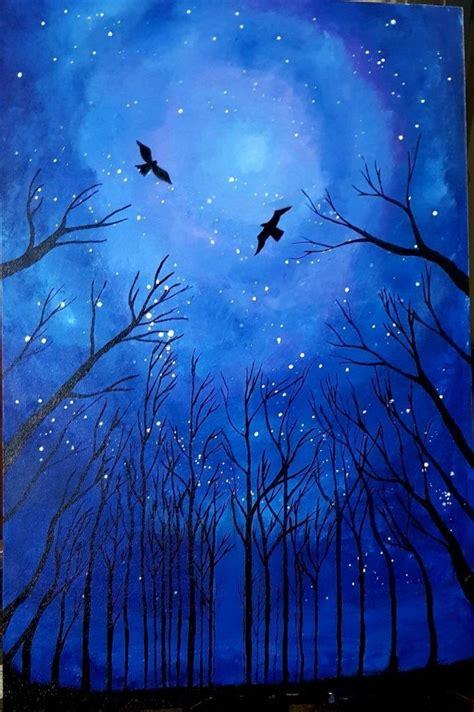 night sky painting ideas harunmudak
