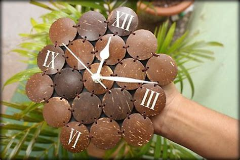 #Coconut Shell Clock   Arts and Crafts from India