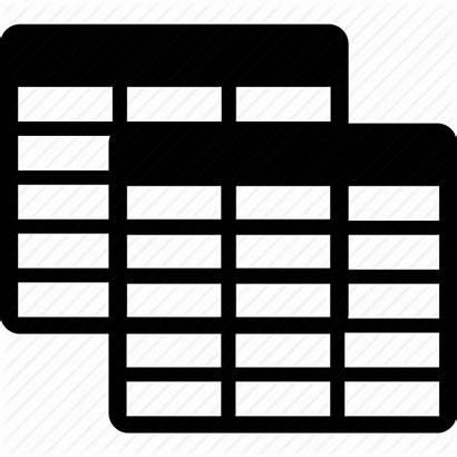 Icon Database Clipart Transparent Icons Tables Grid