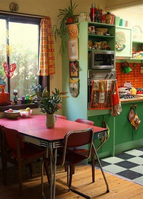 cuisine formica vintage 49 colorful boho chic kitchen designs digsdigs