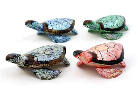 Turtle Decorations Nz by Unique Sea Turtle Statue Figurine Made From Mussel
