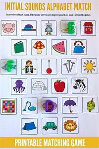 beginning sounds alphabet matching game initial sounds With learning letter sounds games